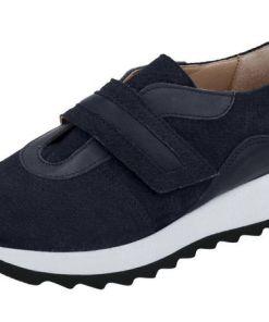 Heine Sneaker mit trendiger weißer Sohle, blau