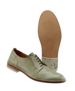 Herren Schnürschuh Grün einfarbig