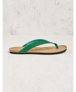 Deerberg Damen Pantoletten Quila grün Sandalen