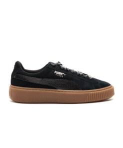 Puma Frauen Sneaker Suede Platform in schwarz