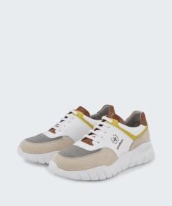 Sneaker Kilburn, beige/grau/braun