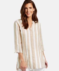 Hemd aus reinem Leinen Mehrfarbig 36/S