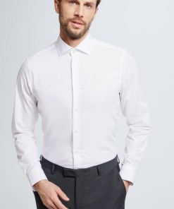 Baumwoll-Hemd Ruben, weiß