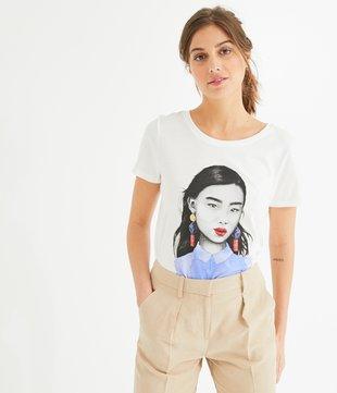 Shirt mit Gesicht-Print