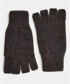 GRAUFingerlose Handschuhe, anthrazit, GRAU
