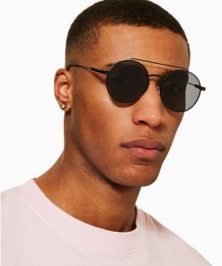 JEEPERS PEEPERS Sonnenbrille mit Doppelsteg, schwarz, SCHWARZ
