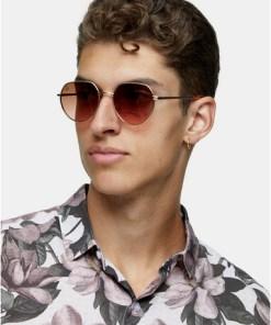 Jeepers Peepers Sonnenbrille mit runden Gläsern, gold, GOLD
