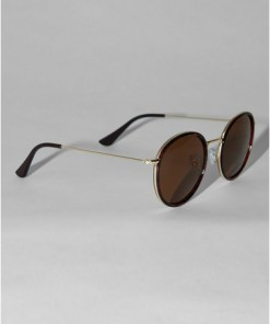 Jeepers Peepers Sonnenbrille mit Schildpattdesign, gold, GOLD
