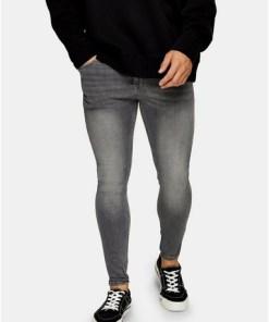 Super Spray-On Jeans, mittelgrau, GRAU