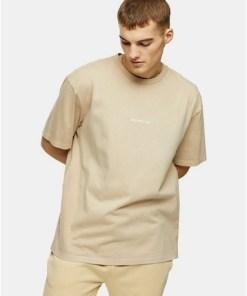 T-Shirt mit 'Berlin'-Schaumdruck, beige, BEIGE