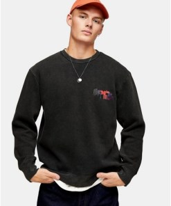 Sweatshirt mit 'Japan'-Print, schwarz, SCHWARZ