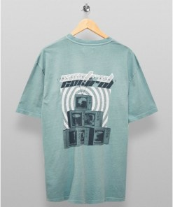 T-Shirt mit Retro-TV-Print, salbeigrün, GRÜN