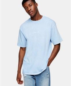 'Berlin' T-Shirt mit Schaum-Print, blau, BLAU