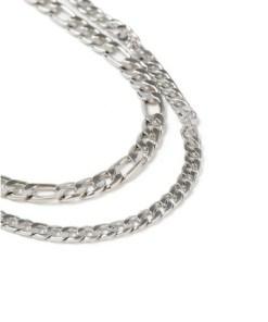 Figaro-Halskette, silber, SILBER