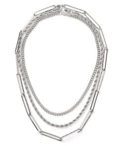 Mehrreihige Halskette, silber, SILBER