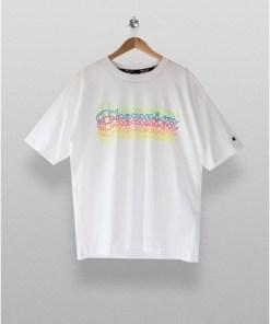 CHAMPION T-Shirt in klassischer Passform, weiß, WEIß