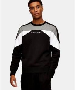 CHAMPION Sweatshirt, schwarz, SCHWARZ