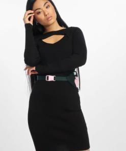 Urban Classics Frauen Kleid Cut Out in schwarz