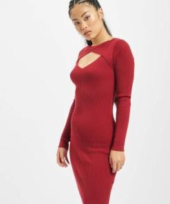 Urban Classics Frauen Kleid Cut Out in rot