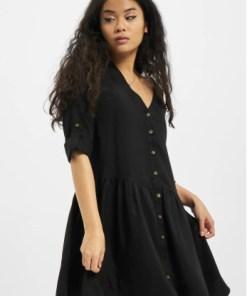 Urban Classics Frauen Kleid Ladies Babydoll in schwarz