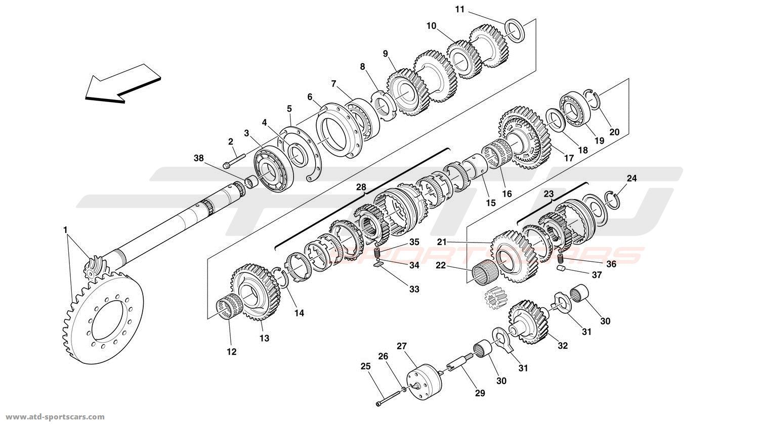 Ferrari 360 Challenge LAY SHAFT GEARS parts at ATD