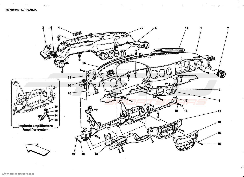 Ferrari 360 Modena Interior Parts At Atd Sportscars
