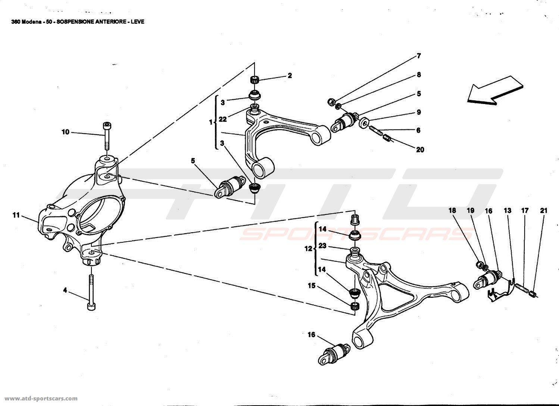 Ferrari 360 Modena Undercarriage parts at ATD-Sportscars