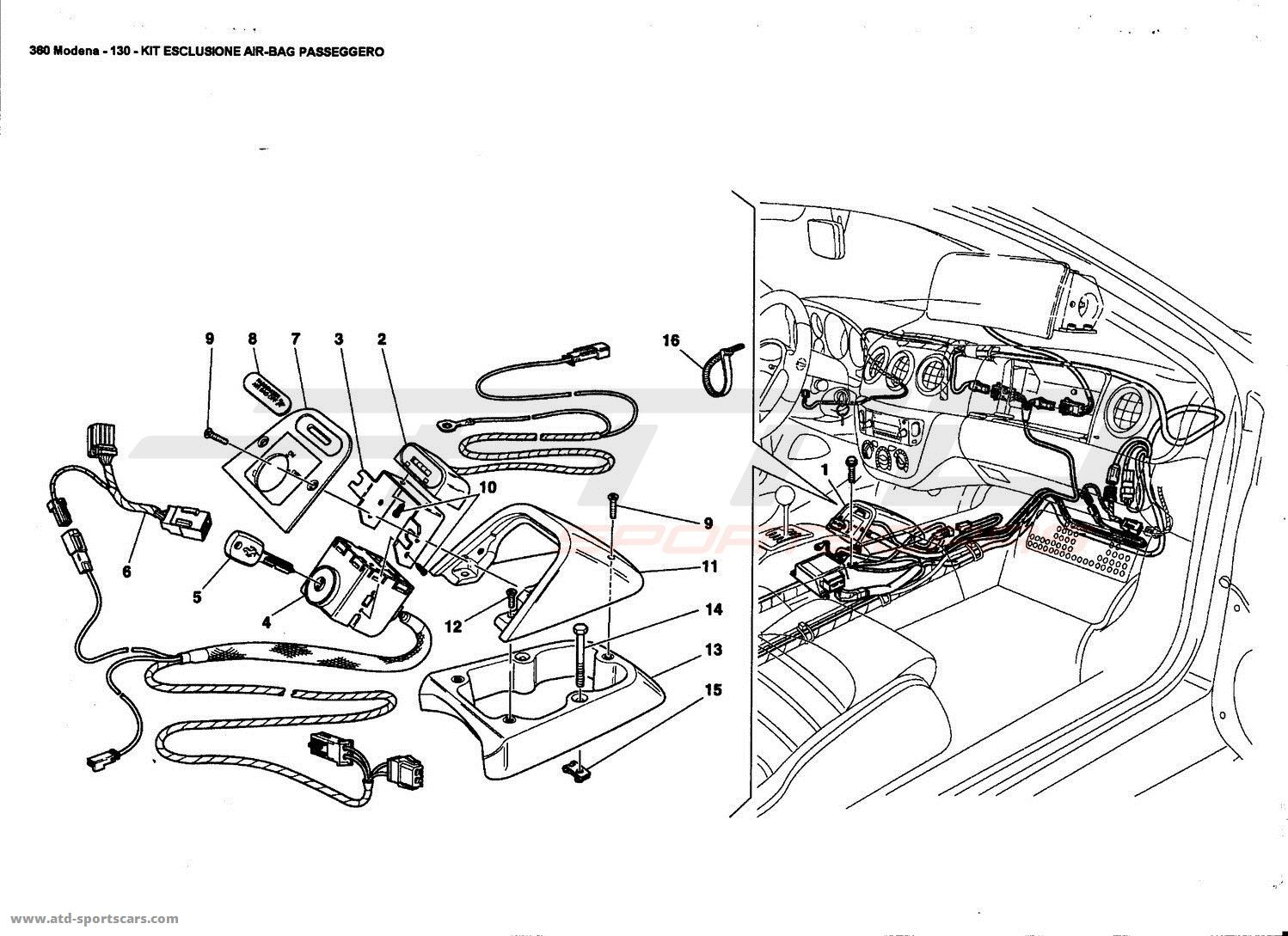 Ferrari 360 Modena Electrical parts at ATD-Sportscars