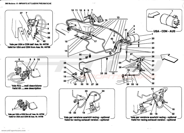 Ferrari 360 Modena PNEUMATICS ACTUATOR SYSTEM parts at ATD