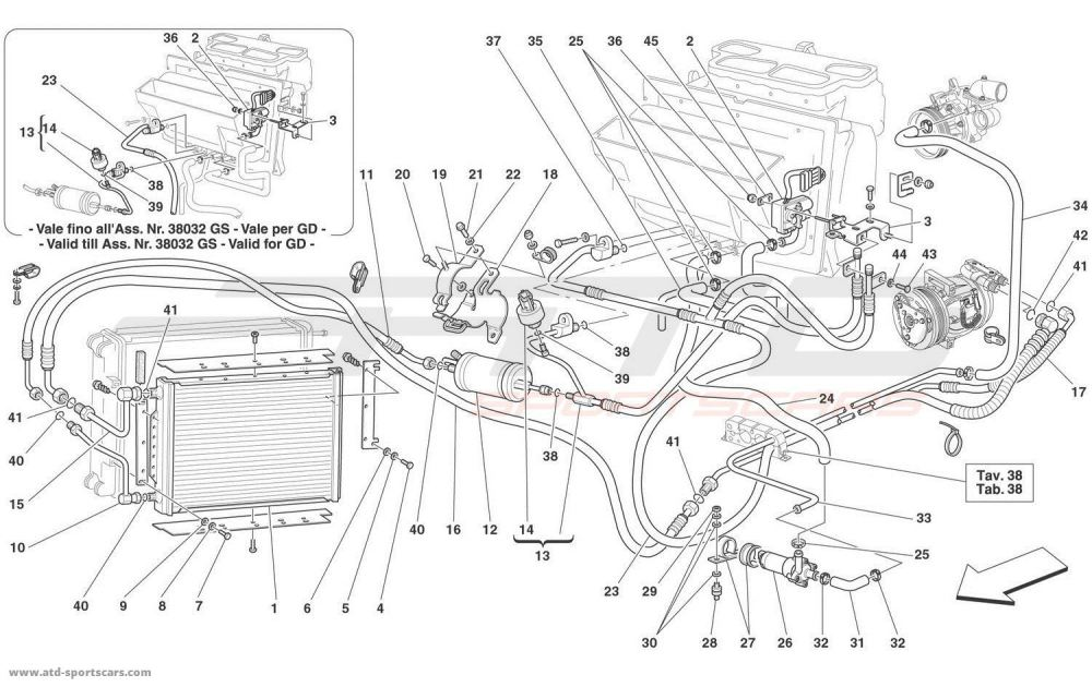 medium resolution of ferrari 360 spider air conditioning system