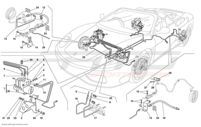 hight resolution of ferrari 360 spider brake system