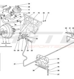 ferrari 360 spider brakes and clutch hydraulic controls [ 1500 x 946 Pixel ]
