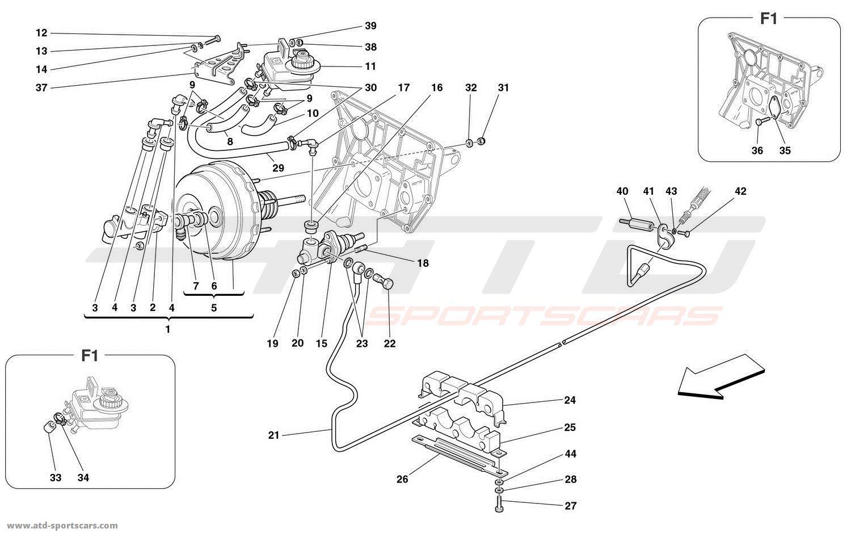 hight resolution of ferrari 360 spider brakes and clutch hydraulic controls