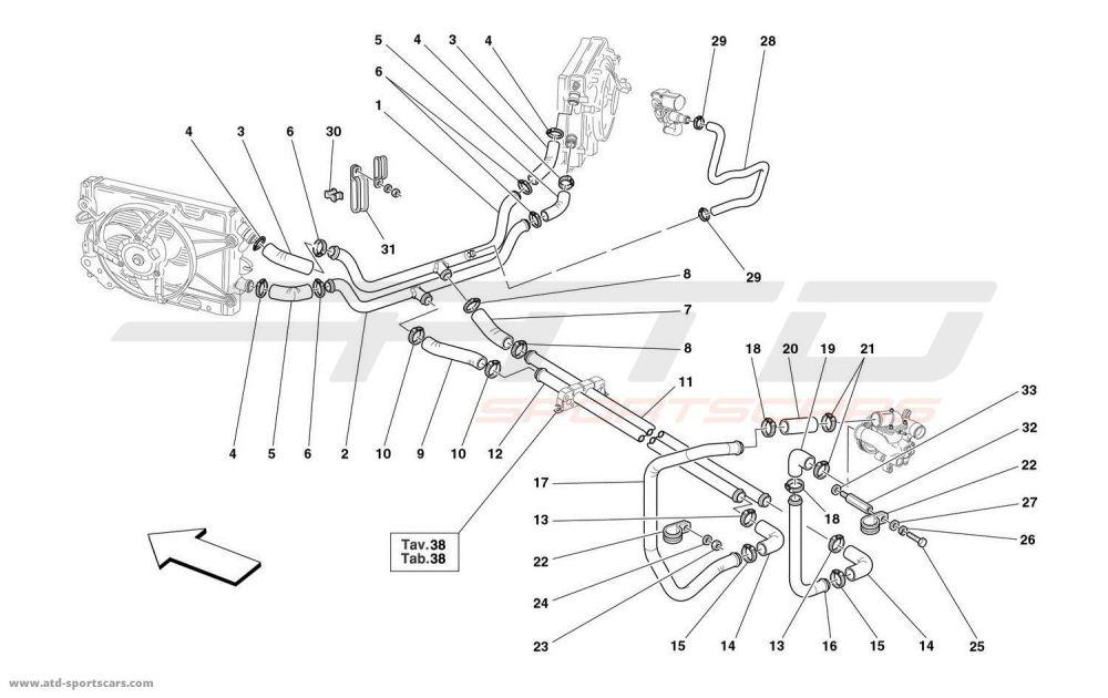 medium resolution of ferrari 360 spider cooling system