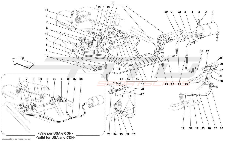 hight resolution of ferrari 360 spider secondary air system