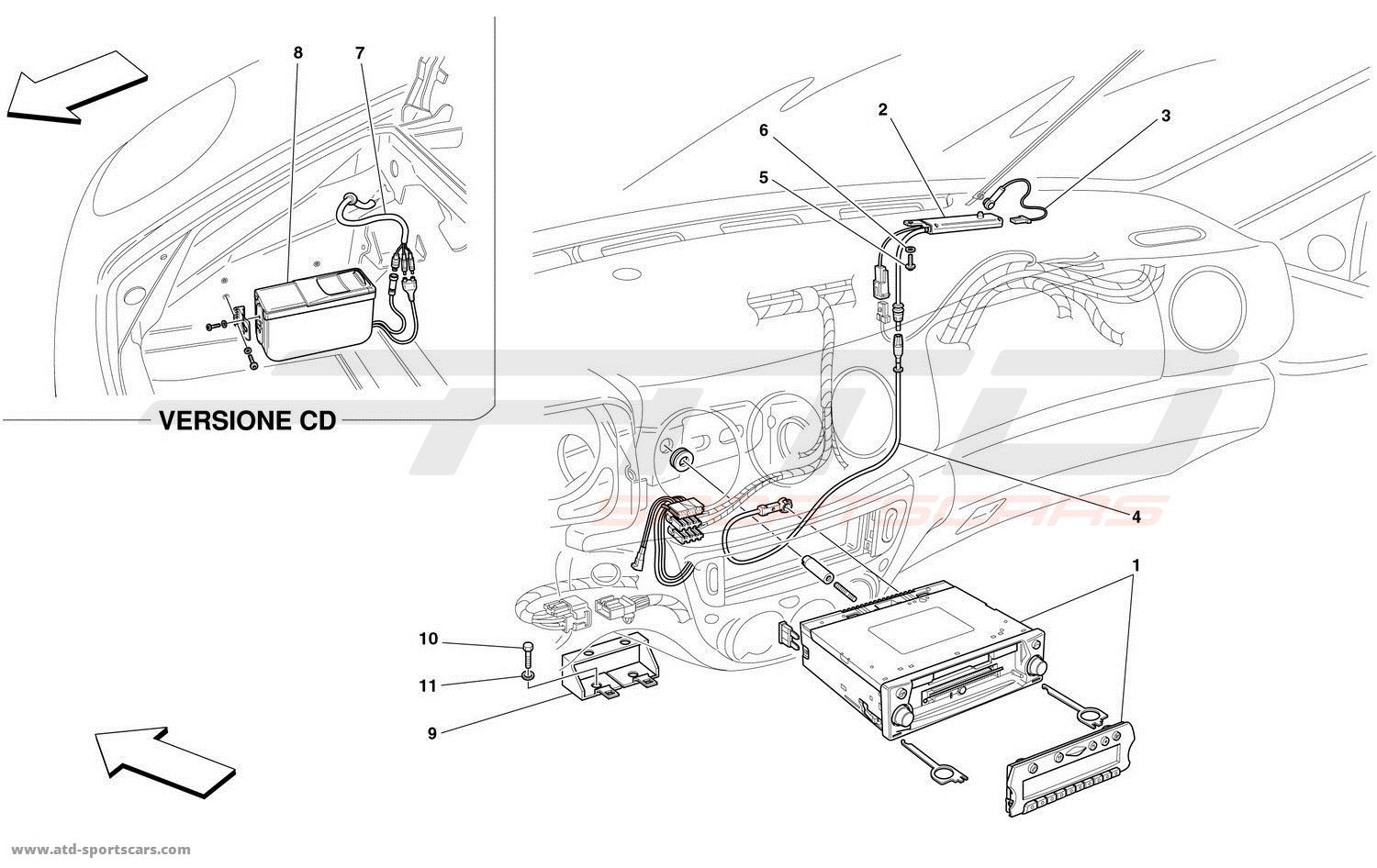 Ferrari 360 Spider Electrical parts at ATD-Sportscars