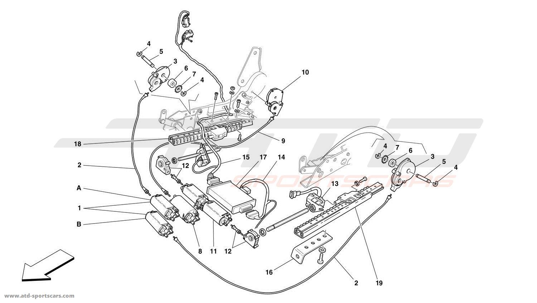 Ferrari 456 GT / GTA FRONT SEAT MOVEMENT SYSTEM at ATD