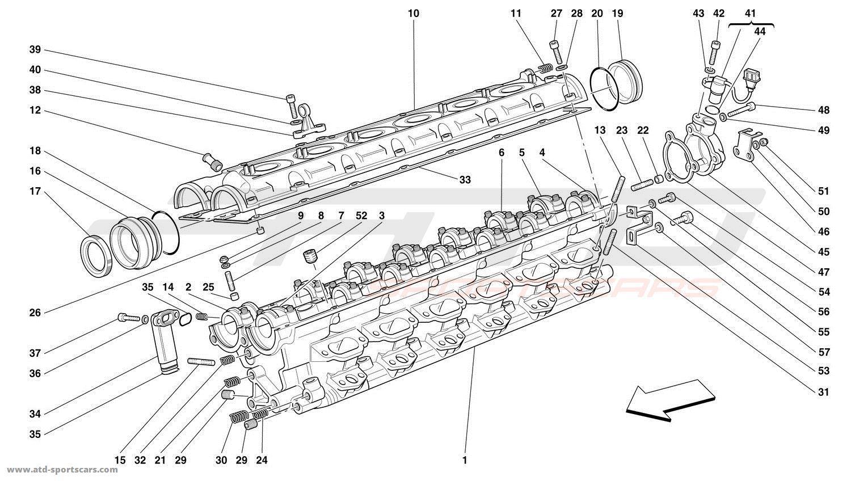 Ferrari 456 GT / GTA R.H. CYLINDER HEAD parts at ATD