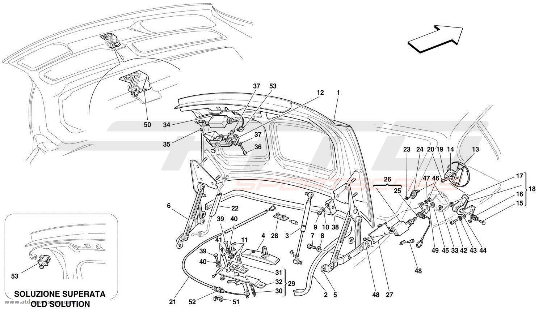 Ferrari 456 GT / GTA TRUNK HOOD BONNET AND PETROL COVER at