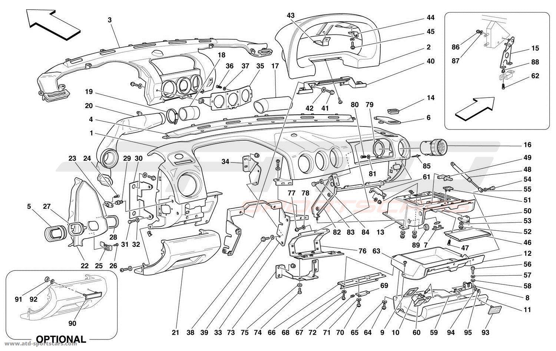 Ferrari 456 M GT / GTA DASHBOARD parts at ATD-Sportscars