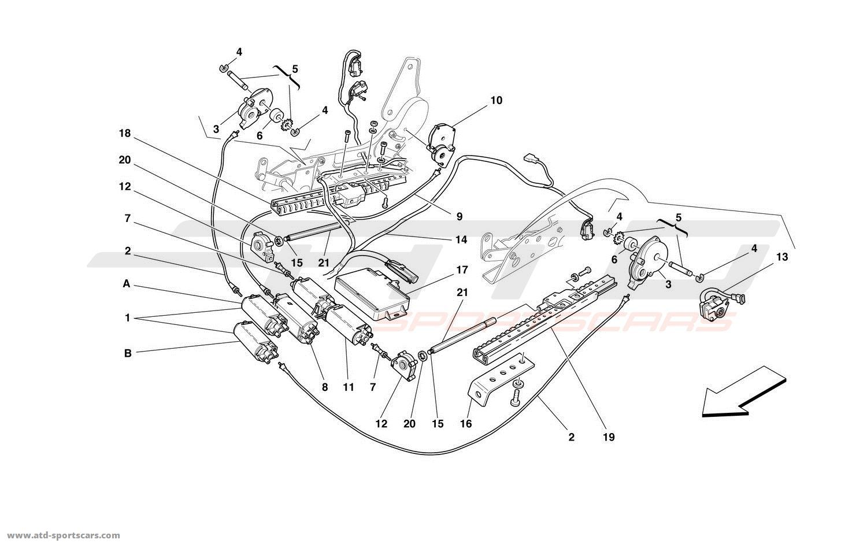 Ferrari 456 M GT / GTA FRONT SEAT MOVEMENT SYSTEM parts at