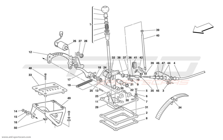 Ferrari 456 M GT / GTA OUTSIDE GEARBOX CONTROLS 2 parts at