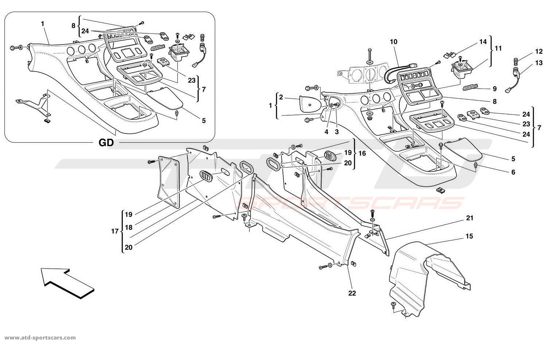 Ferrari 456 M GT / GTA Interior parts at ATD-Sportscars