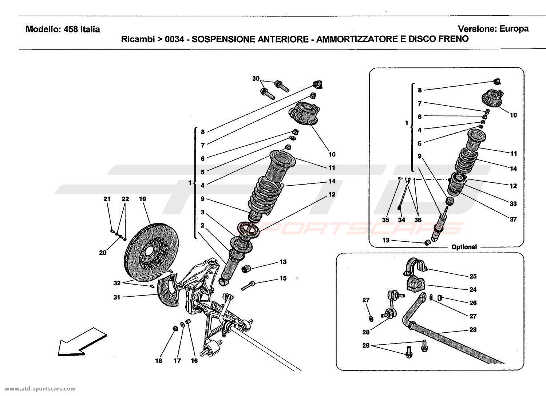 Ferrari 458 Italia Undercarriage parts at ATD-Sportscars