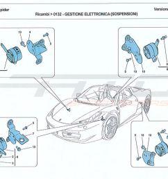 ferrari 458 spider electronic management suspension parts at atd rh atd sportscars com front end suspension [ 1500 x 1088 Pixel ]