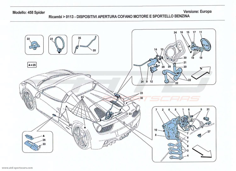Ferrari 458 Spider Air Intake