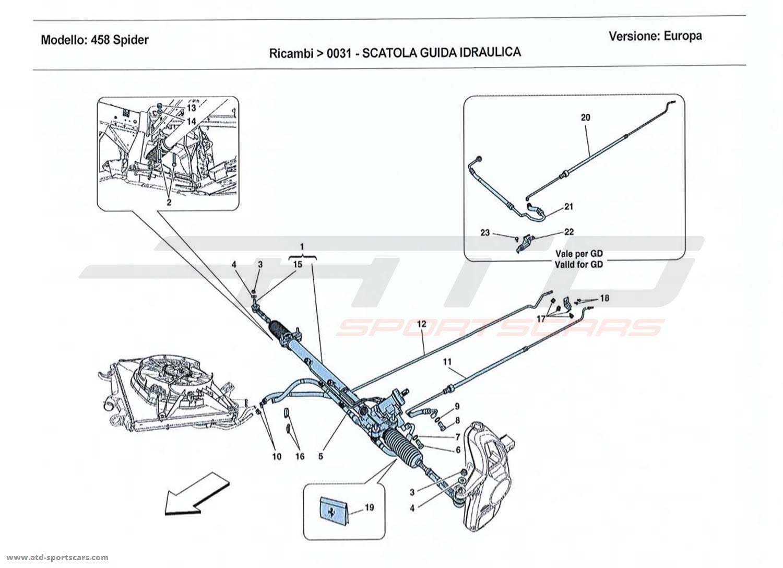 Ferrari 458 Spider Undercarriage Parts At Atd Sportscars