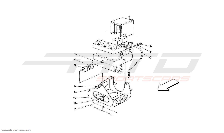 Ferrari 512 TR ABS Hydraulic Control Unit parts at ATD