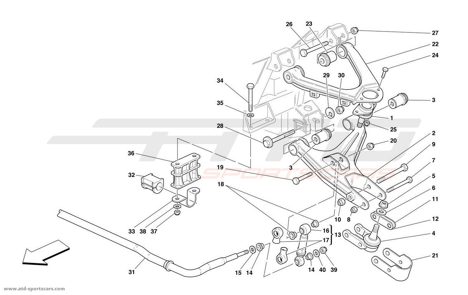 Ferrari 550 Barchetta Undercarriage Parts At Atd
