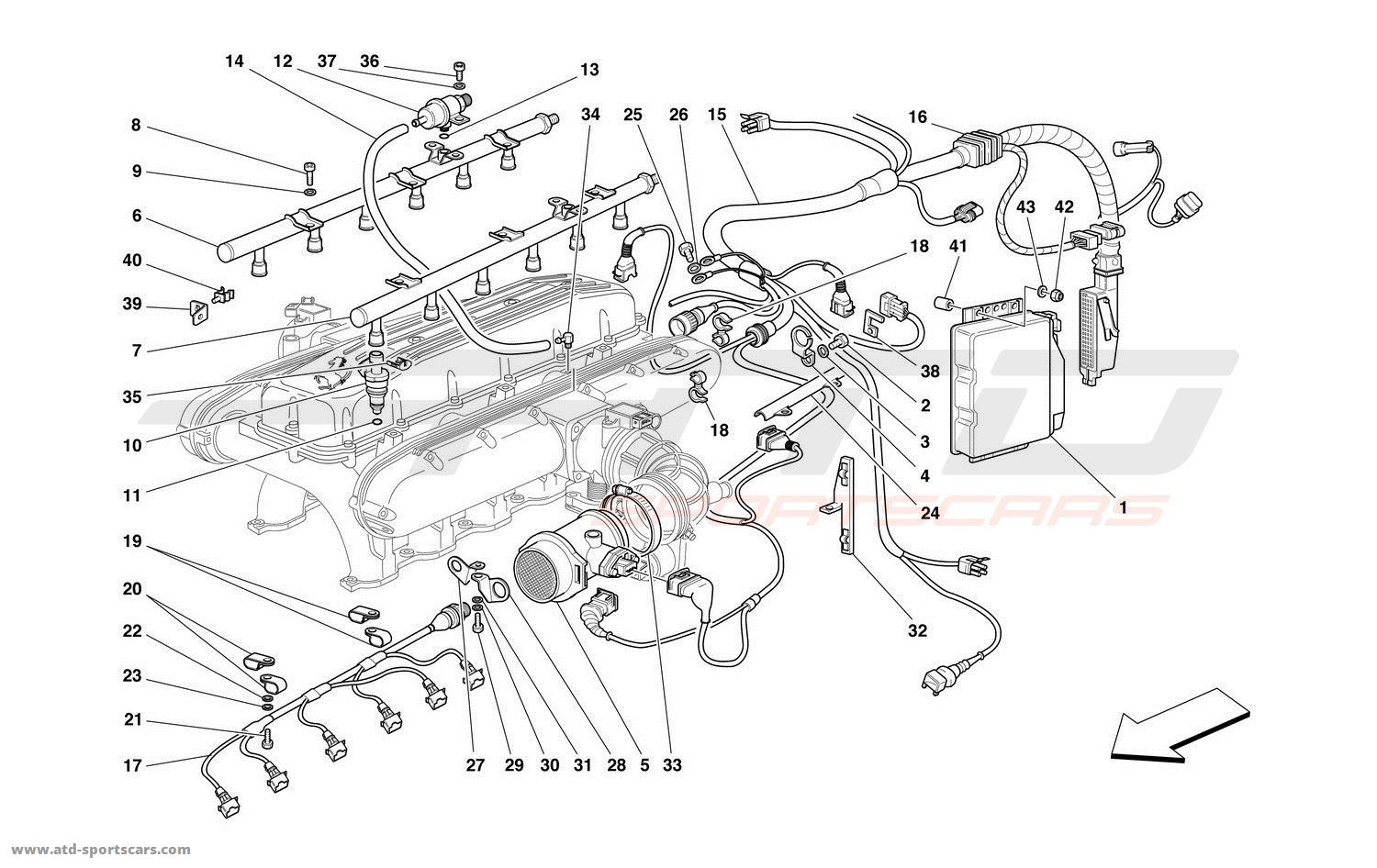 Ferrari 550 Parts Diagram. Ferrari. Auto Parts Catalog And
